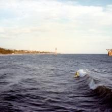 surf en playa el cable