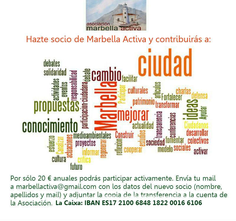 Hazte socio de Marbella Activa 2015 2