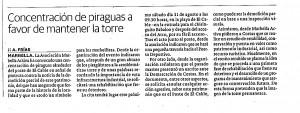Artículo Diario Sur concentración piraguas. 29 Agosto 2013