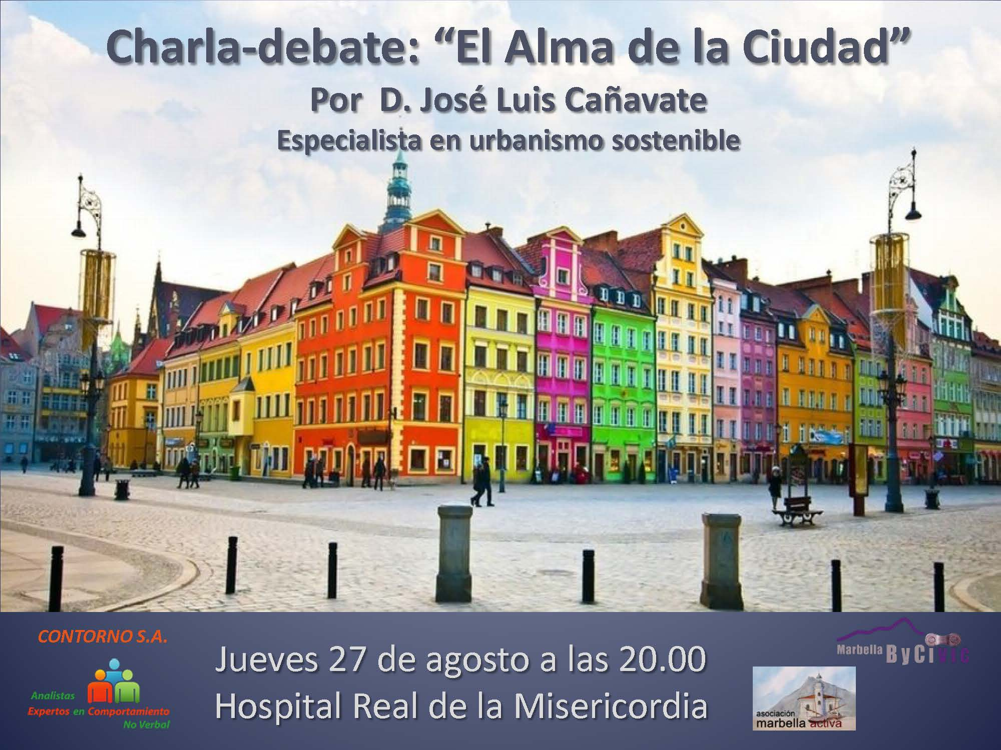 Cartel Charla debate El alma de la ciudad