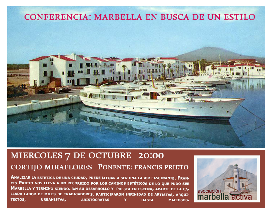 Cartel evento Marbella en busca de un estilo