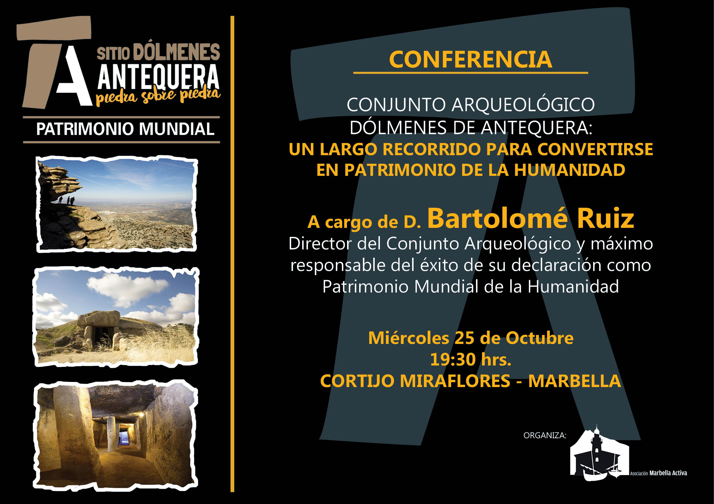 CARTEL CONFERENCIA DOLMENES