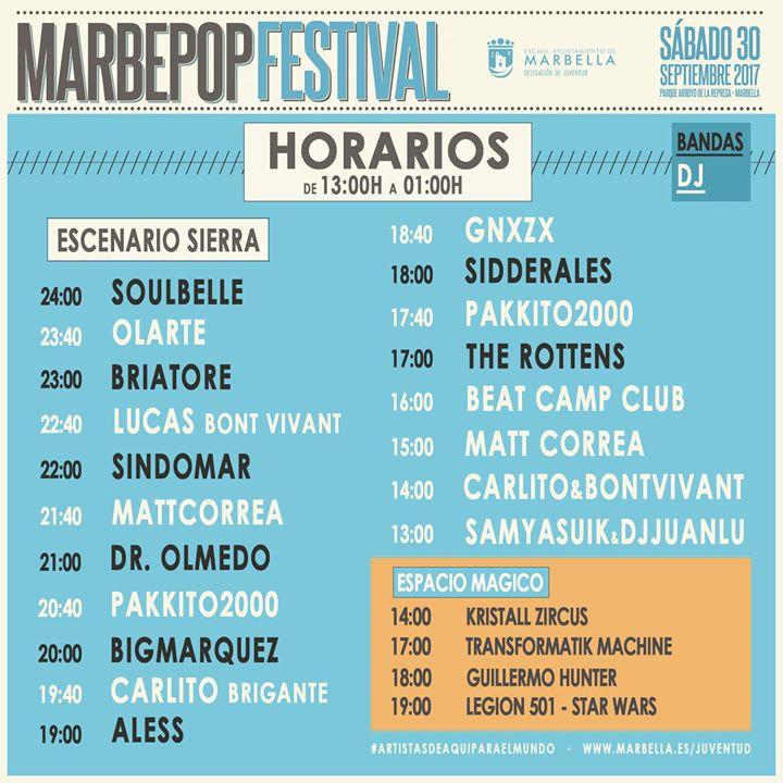 Horario Marbepop